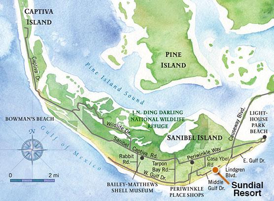 Sanibel Island Map: Sundial Properties